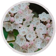 Mountain Laurel Round Beach Towel