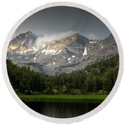 Mountain Light  Round Beach Towel by Duncan Selby