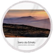 Round Beach Towel featuring the photograph Mountain Mist Poster by Marion McCristall