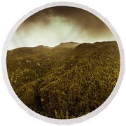 Mountain Of Trees Round Beach Towel