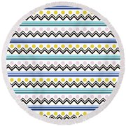 Mountain Pattern Round Beach Towel