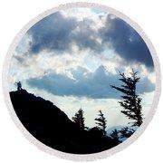 Round Beach Towel featuring the photograph Mountain Peak by Meta Gatschenberger