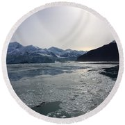 Mountain Reflections II Round Beach Towel