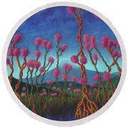 Mountain Roots 01 Round Beach Towel