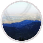 Mountain Shadow Round Beach Towel