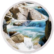 Mountain Spring Water Round Beach Towel