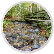 Mountain Stream #2 Round Beach Towel