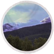 Mountain Top Round Beach Towel