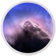 Mountain Twilight Round Beach Towel