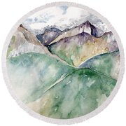 Mountain View Colorado Round Beach Towel