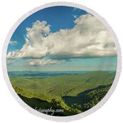 Mountain View From Preachers Rock Round Beach Towel