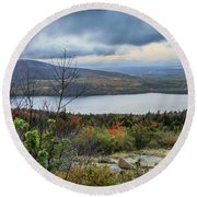 Mountain View Round Beach Towel by Jane Luxton