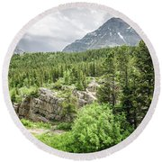 Round Beach Towel featuring the photograph Mountain Vistas by Margaret Pitcher