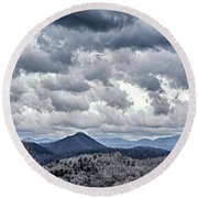 Round Beach Towel featuring the photograph Mountains 1 by Walt Foegelle