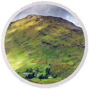 Mountains Of Ireland Round Beach Towel