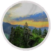 Mountains Tatry National Park - Pol1003778 Round Beach Towel