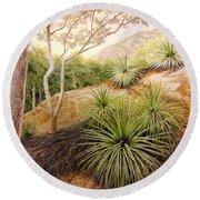 Mountian Yucca Round Beach Towel
