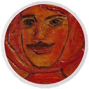 Moustached Prince Round Beach Towel