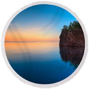 Mouth Of The Baptism River Minnesota Round Beach Towel