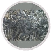 Movement In The Earth Round Beach Towel