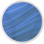 Movement In Waves Round Beach Towel
