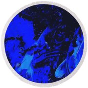 Movements In Silence  Round Beach Towel