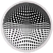 Moving Feats Of Black And White Round Beach Towel