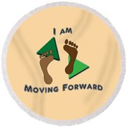 Moving Forward Round Beach Towel