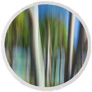 Moving Trees 31 Landscape Format Round Beach Towel