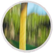 Moving Trees 32 Portrait Format Round Beach Towel