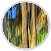 Moving Trees 33 Portrait Format Round Beach Towel