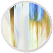 Moving Trees 34 Portrait Format Round Beach Towel