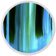 Moving Trees 37-05 Portrait Format Round Beach Towel