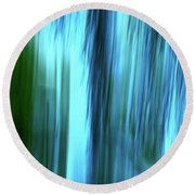 Moving Trees 37-15portrait Format Round Beach Towel