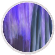 Moving Trees 37-36 Portrait Format Round Beach Towel