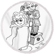 Mozart And Beethoven Round Beach Towel