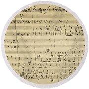 Round Beach Towel featuring the photograph Mozart: Requiem Excerpt by Granger