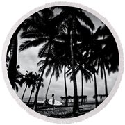 Round Beach Towel featuring the photograph Mozzie Bait by Nik West