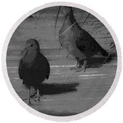Mr And Mrs Dove Round Beach Towel