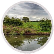Round Beach Towel featuring the photograph Mr And Mrs by Isabella F Abbie Shores FRSA