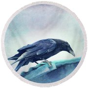 Mr. Bluebird Round Beach Towel