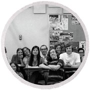Mr Clay's Ap English Class - Cropped Round Beach Towel