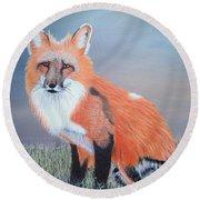 Mr. Fox Round Beach Towel