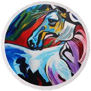 Mr Gorgeous Round Beach Towel by Nora Shepley