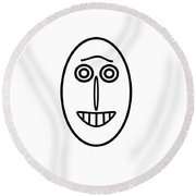 Mr Mf Has A Smile Round Beach Towel