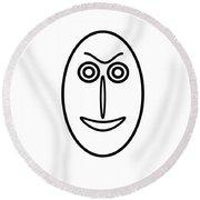 Mr Mf Is A Little Bit Friendly  Round Beach Towel