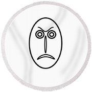 Mr Mf Is Angry Round Beach Towel