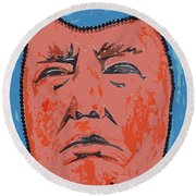 Mr. President Round Beach Towel by Robert Margetts