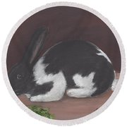 Mr. Rabbit Round Beach Towel