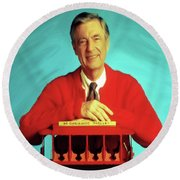 Mr Rogers With Trolley Round Beach Towel
